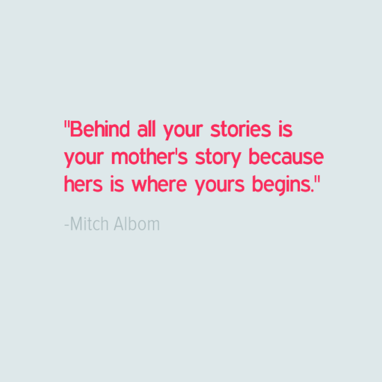 Mitch Albom mothers day quotes