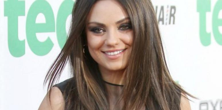 Mila Kunis smiling Ted premiere