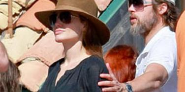 Brad Pitt and Angelina Jolie in Malibu