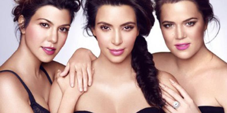 Kourtney Kardashian, Kim Kardashian and Khloe Kardashian promoting their Khroma beauty line