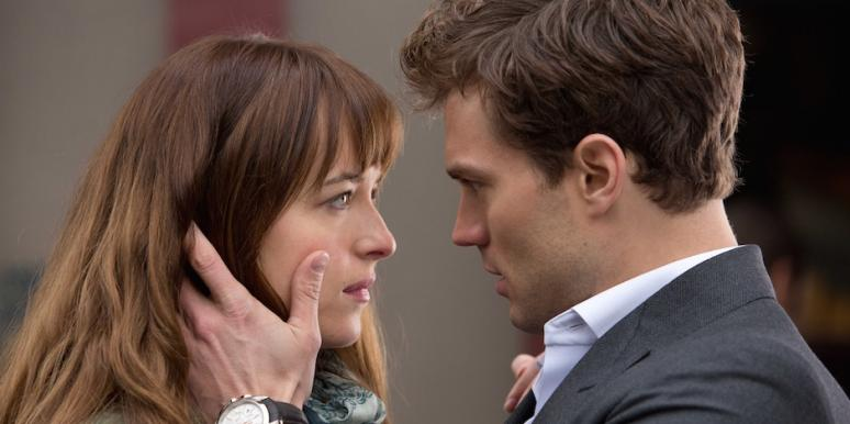 Dakota Johnson and Jamie Dornan from Fifty Shades of Grey