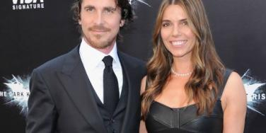 Christian Bale and wife The Dark Knight Rises