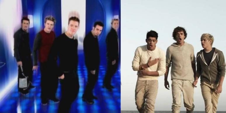 NSync from Bye Bye Bye and One Direction from What Makes You Beautiful