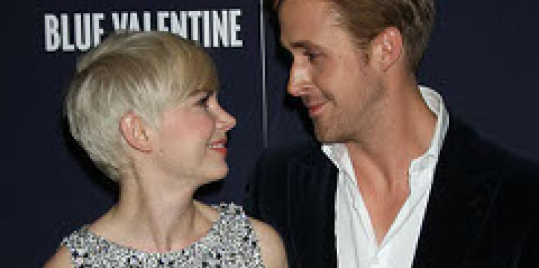 Ryan Gosling and Michelle Williams on the red carpet.