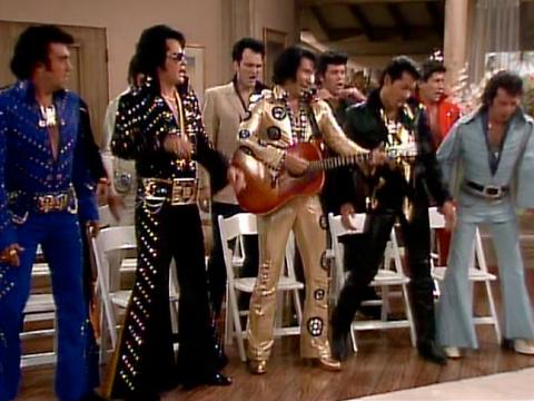 "Quentin Tarantino as an Elvis impersonator on ""The Golden Girls"""