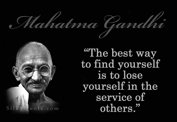 gandhi quote, finding yourself