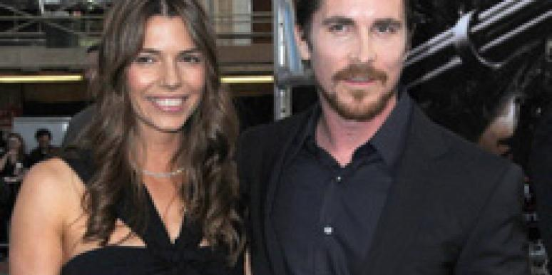 Christian Bale and wife Sibi