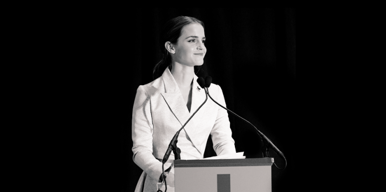 Emma Watson gives a speech to the U.N.