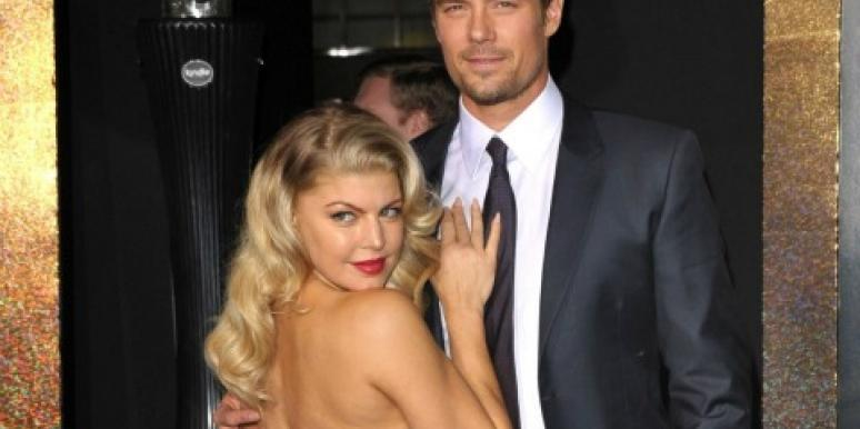 Fergie and Josh Duhamel pose