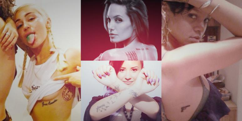 celebrity tattoos female celeb tattoos