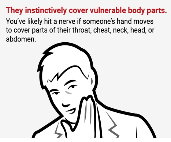 Cover body parts.