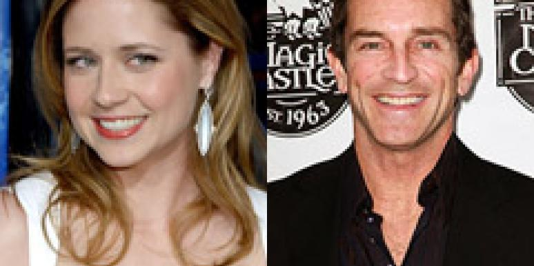 Jenna Fischer and Jeff Probst