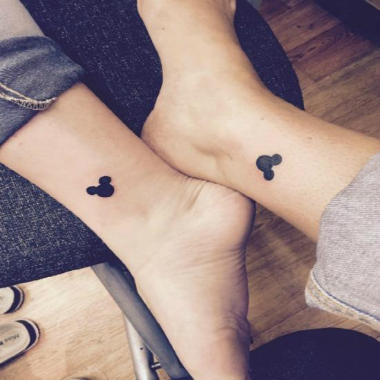 Mickey Mouse Disney best friends tattoos