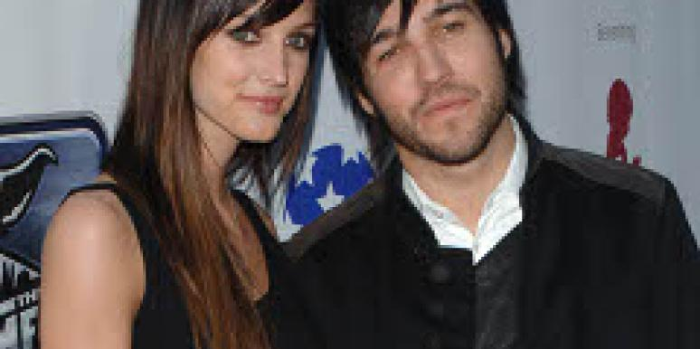 Ashlee Simpson and Pete Wentz late last year.