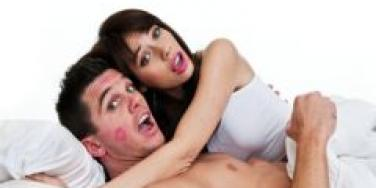 couple caught cheating in bed