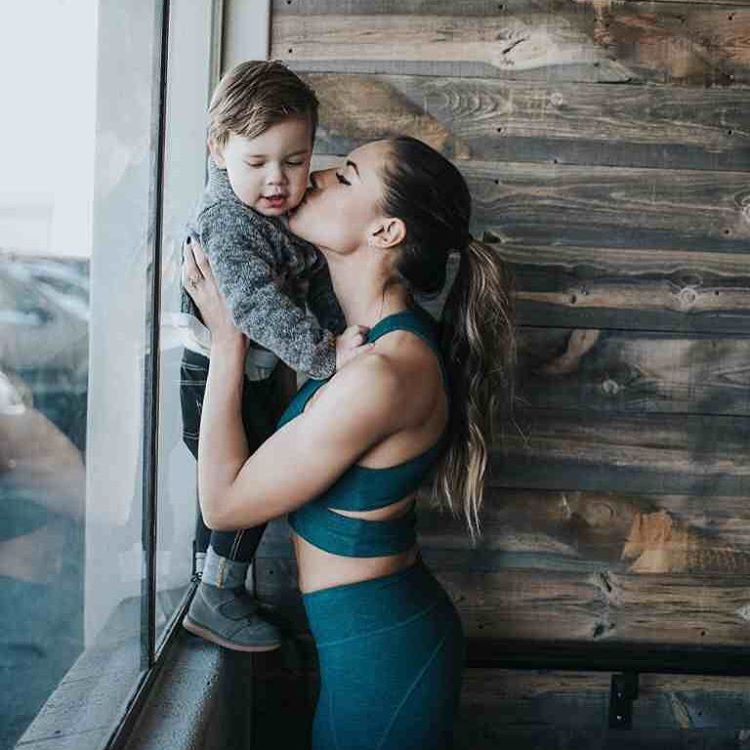 7. Kelsey and her son