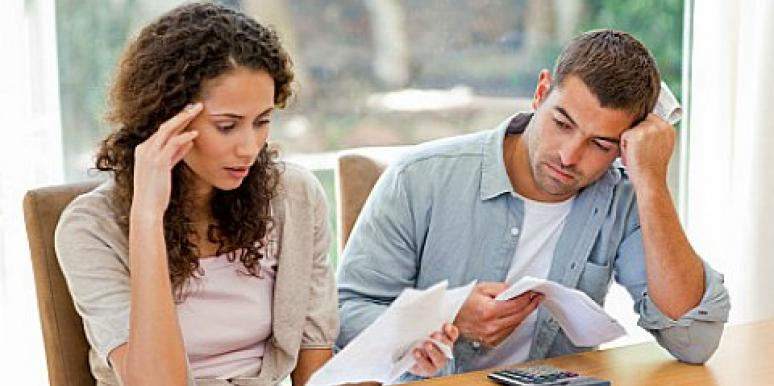 couple considering a joint bank account