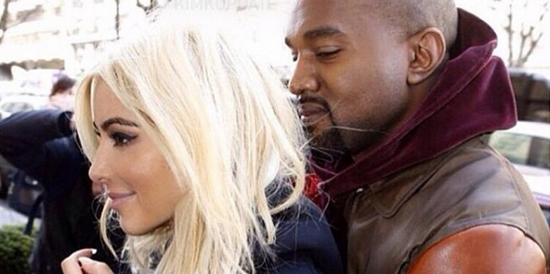 Kim Kardashian and Kanye West at Paris Fashion Week from Kim Kardashian's Instagram page