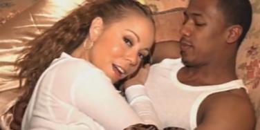 "Mariah Carey & Nick Cannon in her ""Love Story"" music video"