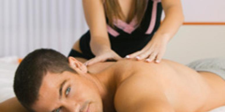 Intimate Massage woman massaging man