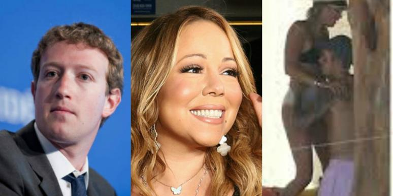 mark zuckerberg, justin bieber, mariah carey