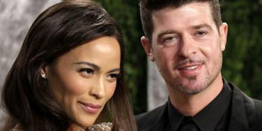 Paula Patton & Robin Thicke at 2013 Vanity Fair Oscars party