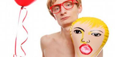 Man with sex doll