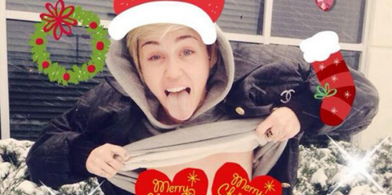 Miley Cyrus Nude Christmas Card Photo