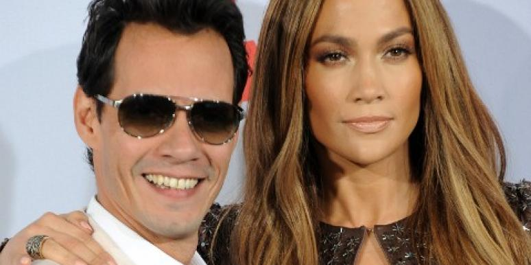 Jennifer Lopez, Marc Anthony pose together