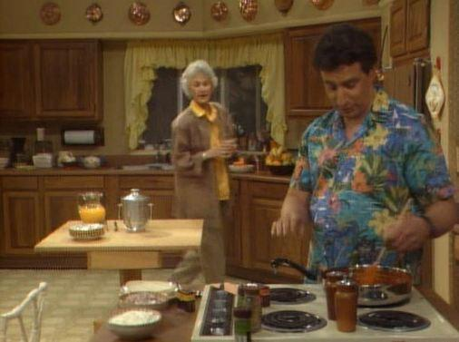 """Bea Arthur as Dorothy Zbornak and Charles Levin as Coco Davis on """"The Golden Girls"""" pilot"""