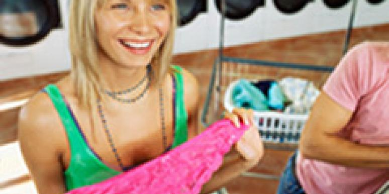 woman finding boyfriend's dirty laundry