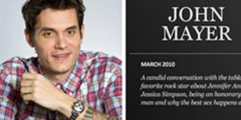 john mayer playboy interview text