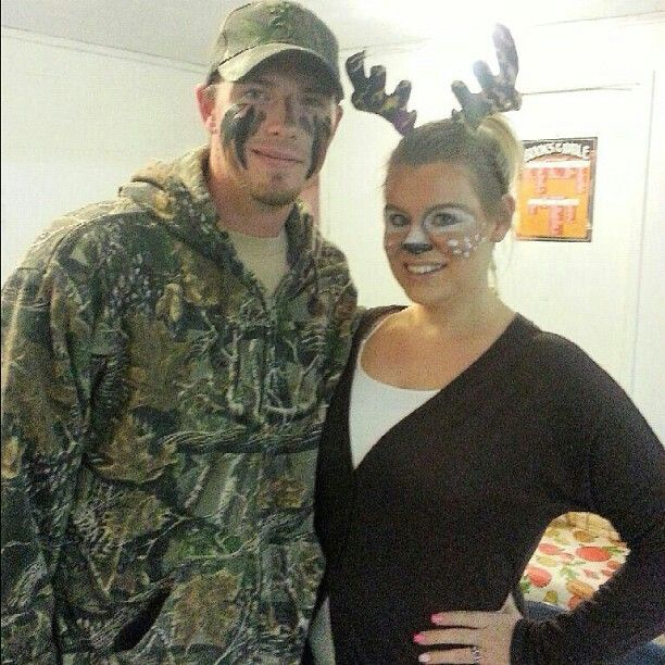 halloween costume deer and hunter