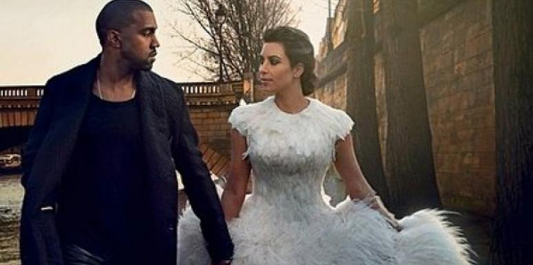 Kanye West Kim Kardashian wedding spread in Vogue