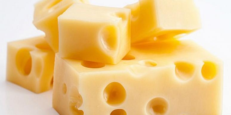 Swiss cheese cubes