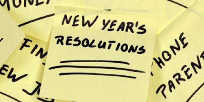 new year's resolutions 2013