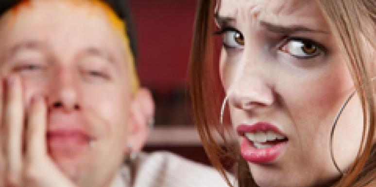 unhappy woman with guy