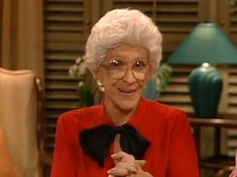 "<a href=""http://goldengirls.wikia.com/wiki/File:Aunt_Angela.png""/>Nancy Walker as Aunt Angela Vecchio on ""The Golden Girls""</a>"