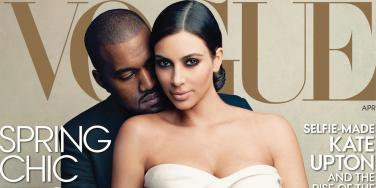 Kim Kardashian and Kanye West in Vogue