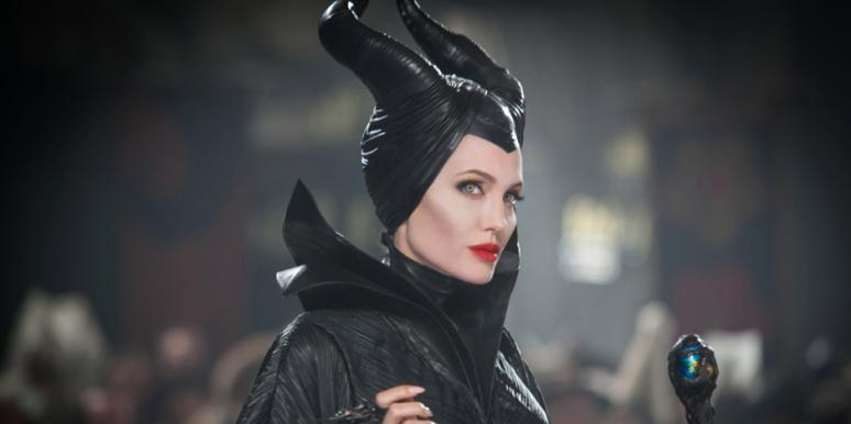 "Angelina Jolie as Disney villain Maleficent, the secret former love of the king of ""Sleeping Beauty"""