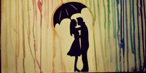 couple under an umbrella