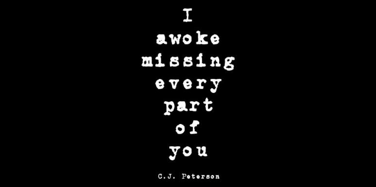 Poet C.J. Peterson Instagram Quotes Break Up Love