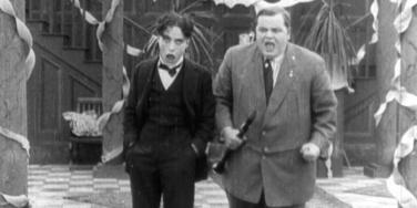 Charlie Chaplin and Fatty Arbuckle from Tango Tangles