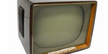 old-fashioned television