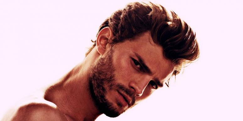 "Shirtless Jamie Dornan, who stars as Christian Grey in the ""Fifty Shades Of Grey"" movie adaptation"