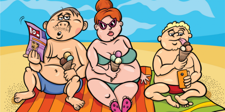 fat-family-on-beach
