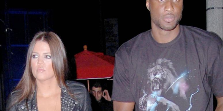 Khloe Kardashian & Lamar Odom before their divorce announcement and theft in Kardashian's mansion