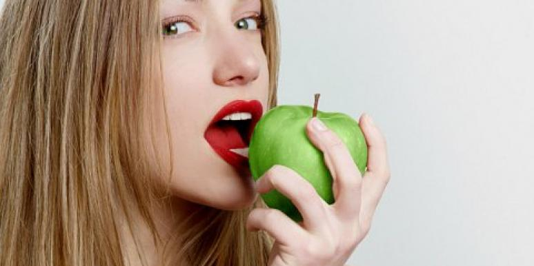 apple eating