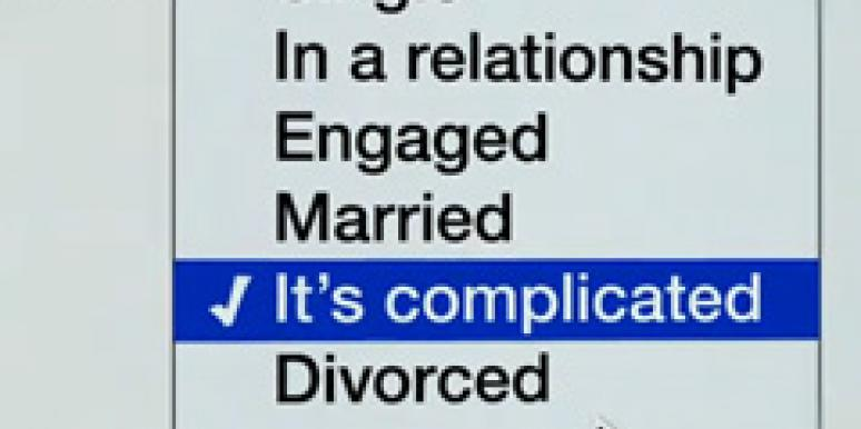 facebook relationship status it's complicated