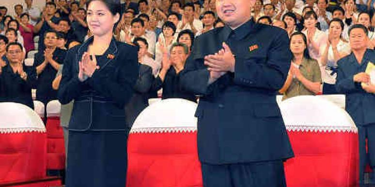 North Korea's first couple, Kim Jong-Un and Ri Sol Ju.